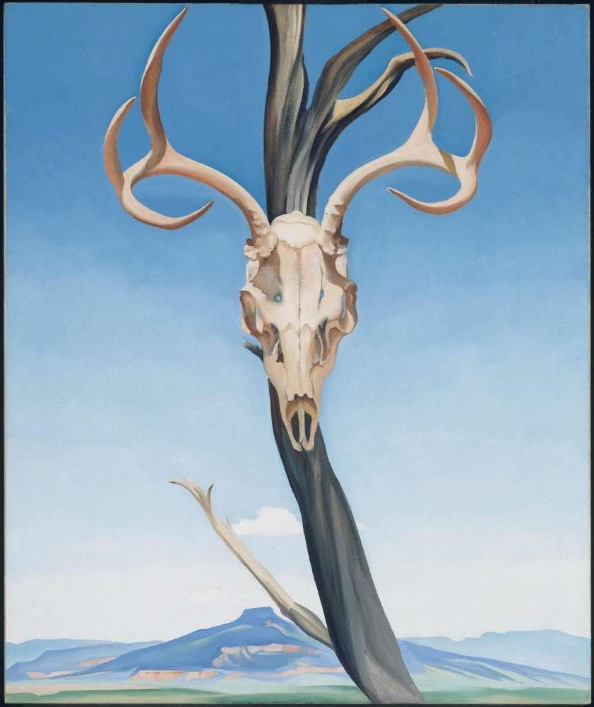 Deer's Skull with Pedernal, 1936