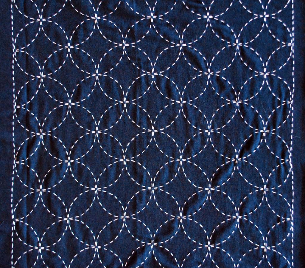 An example of a traditional Sashiko pattern from Markaroka