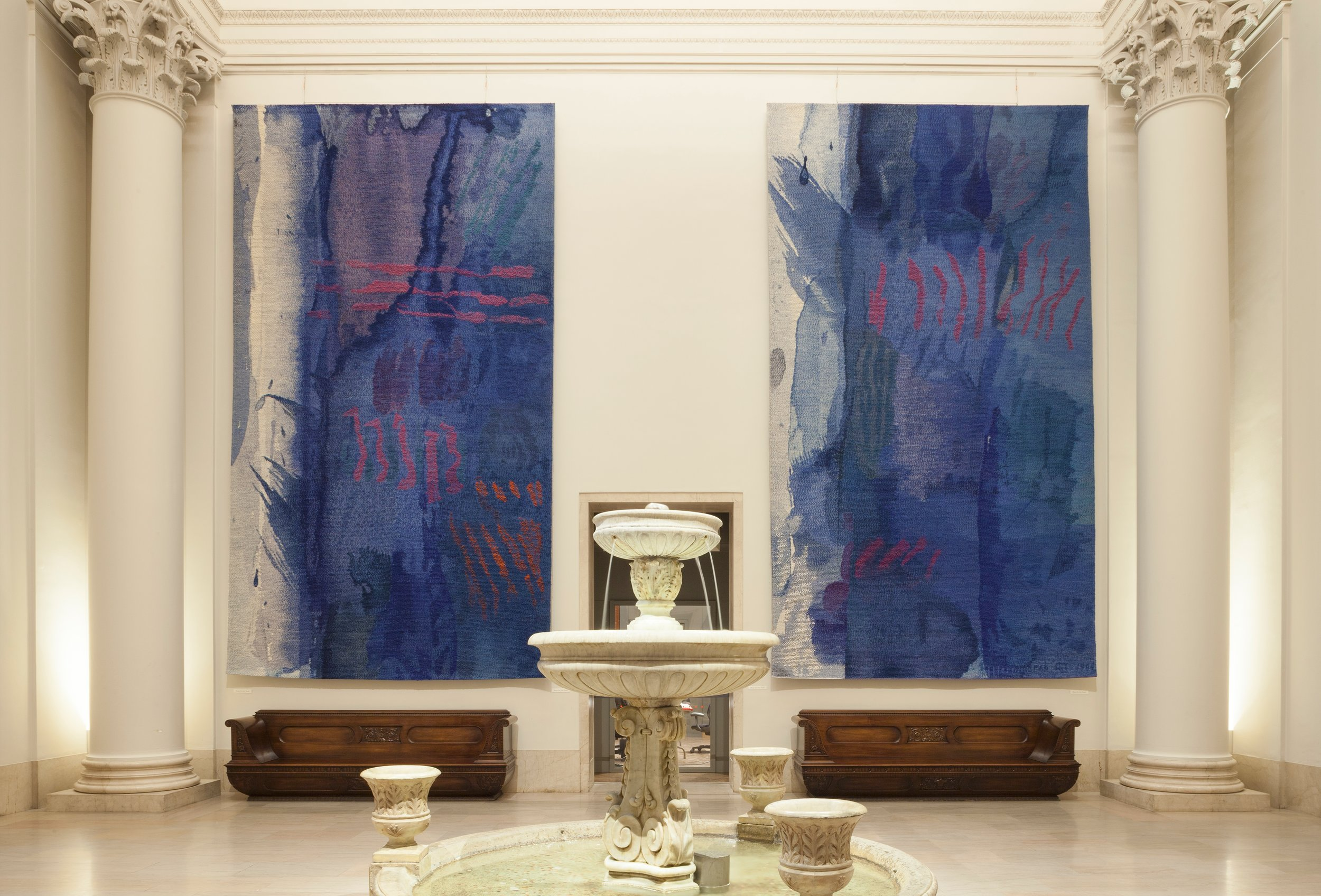 Blue Wash Tapestries; Helena Hernmarck, Minneapolis Institute of Art