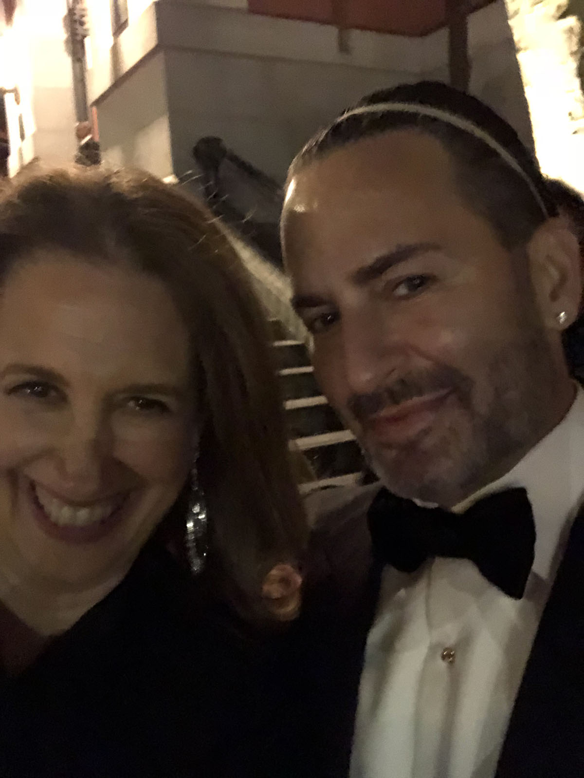 The other evening I attended the Park Avenue Armory's Indigo Gala and ran into the completely fabulous Marc Jacobs!