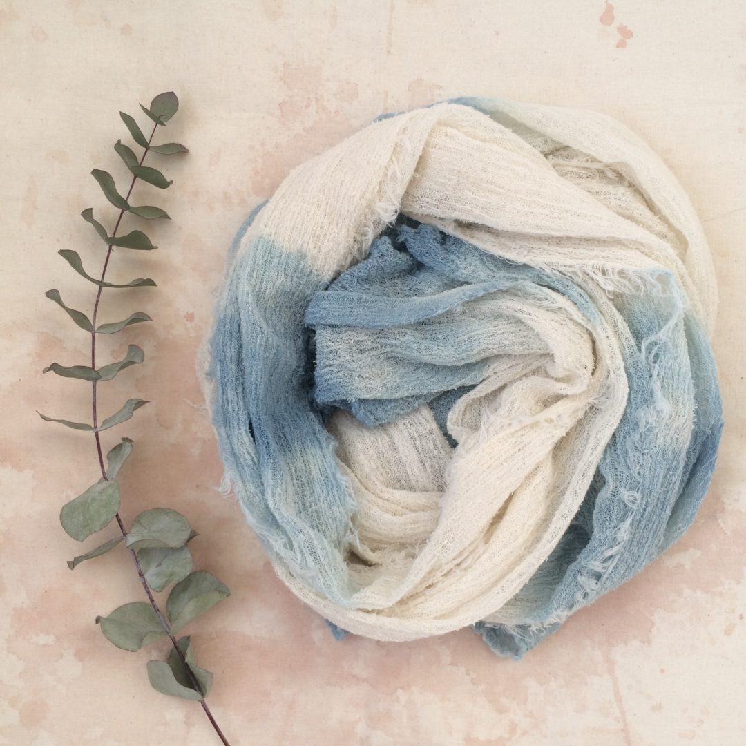 Woad Dyed Scarf from Rebecca Desnos