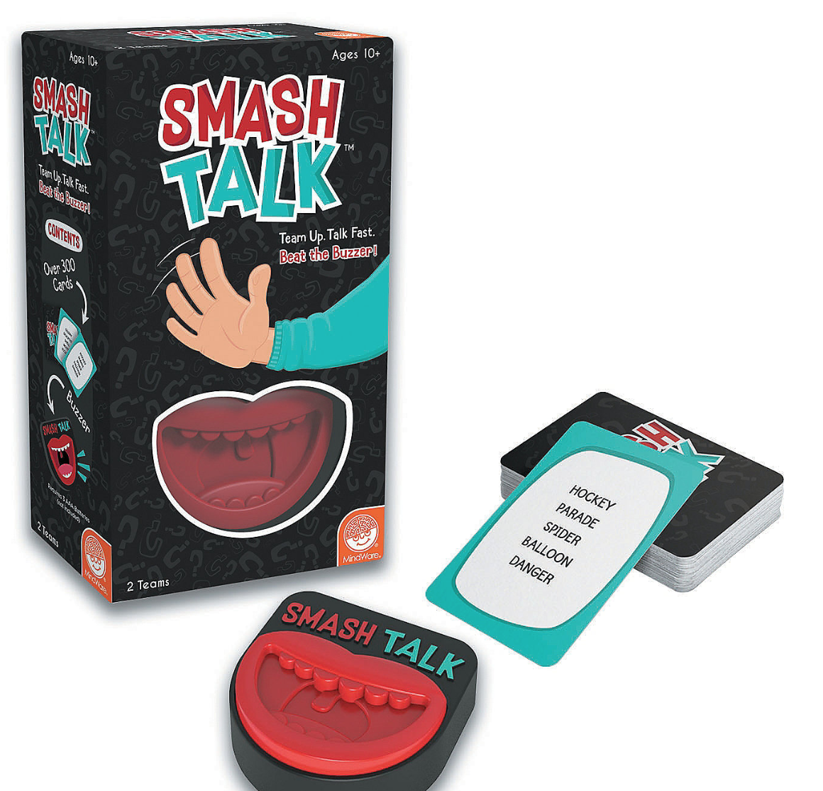 """Rocco DellaNeve is the voice of the Smash hit party game """"Smash Talk"""" by Mindware."""