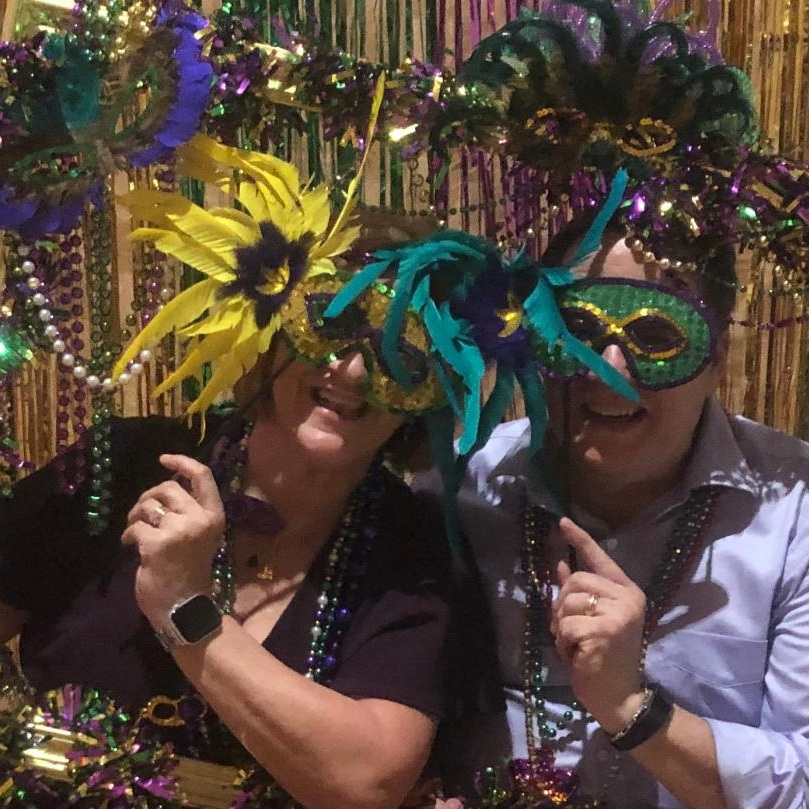 Leonard and Delisa at the POP Mardi Gras Feb. 2019