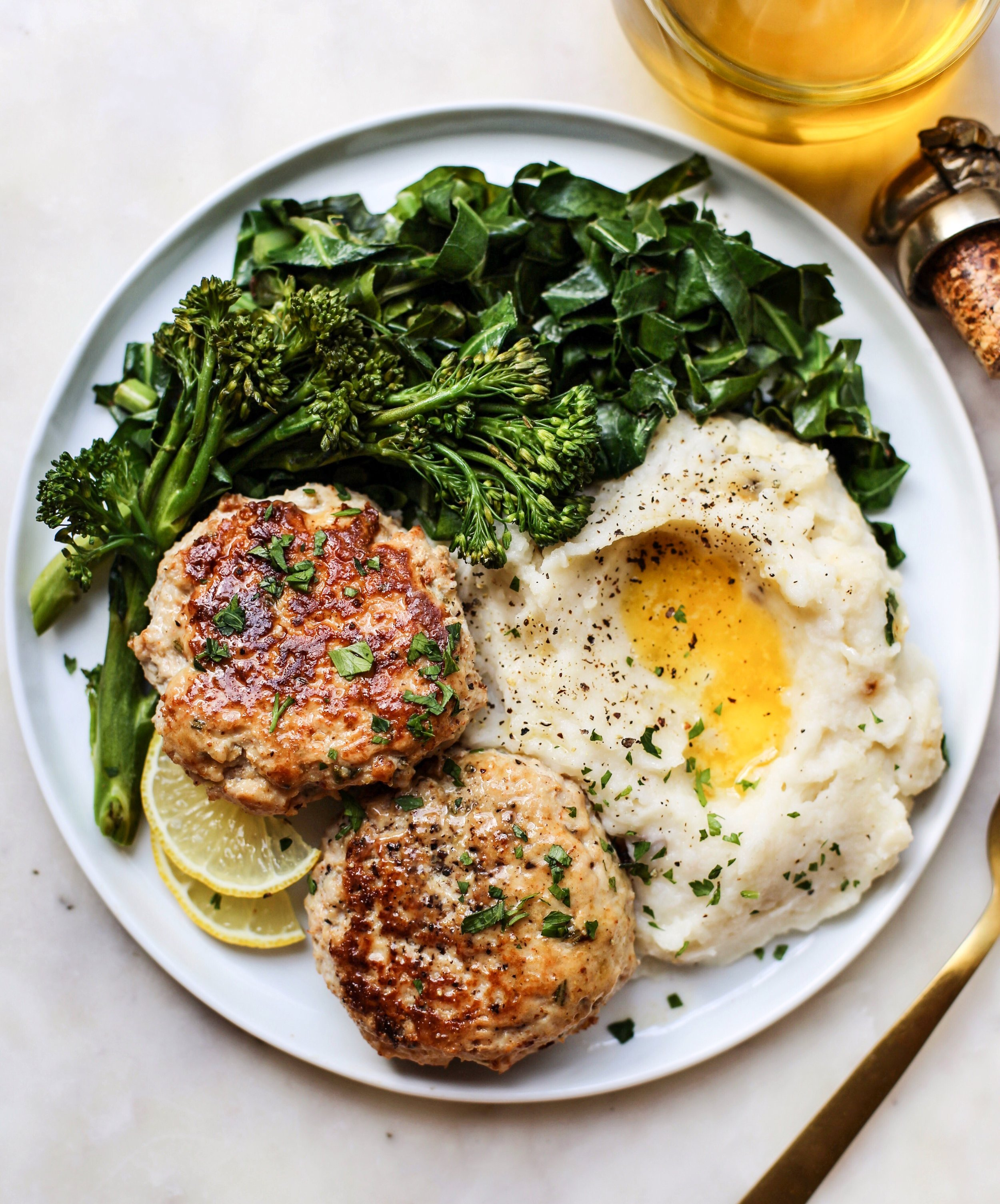 Chicken Patties with Rosemary and Lemon.