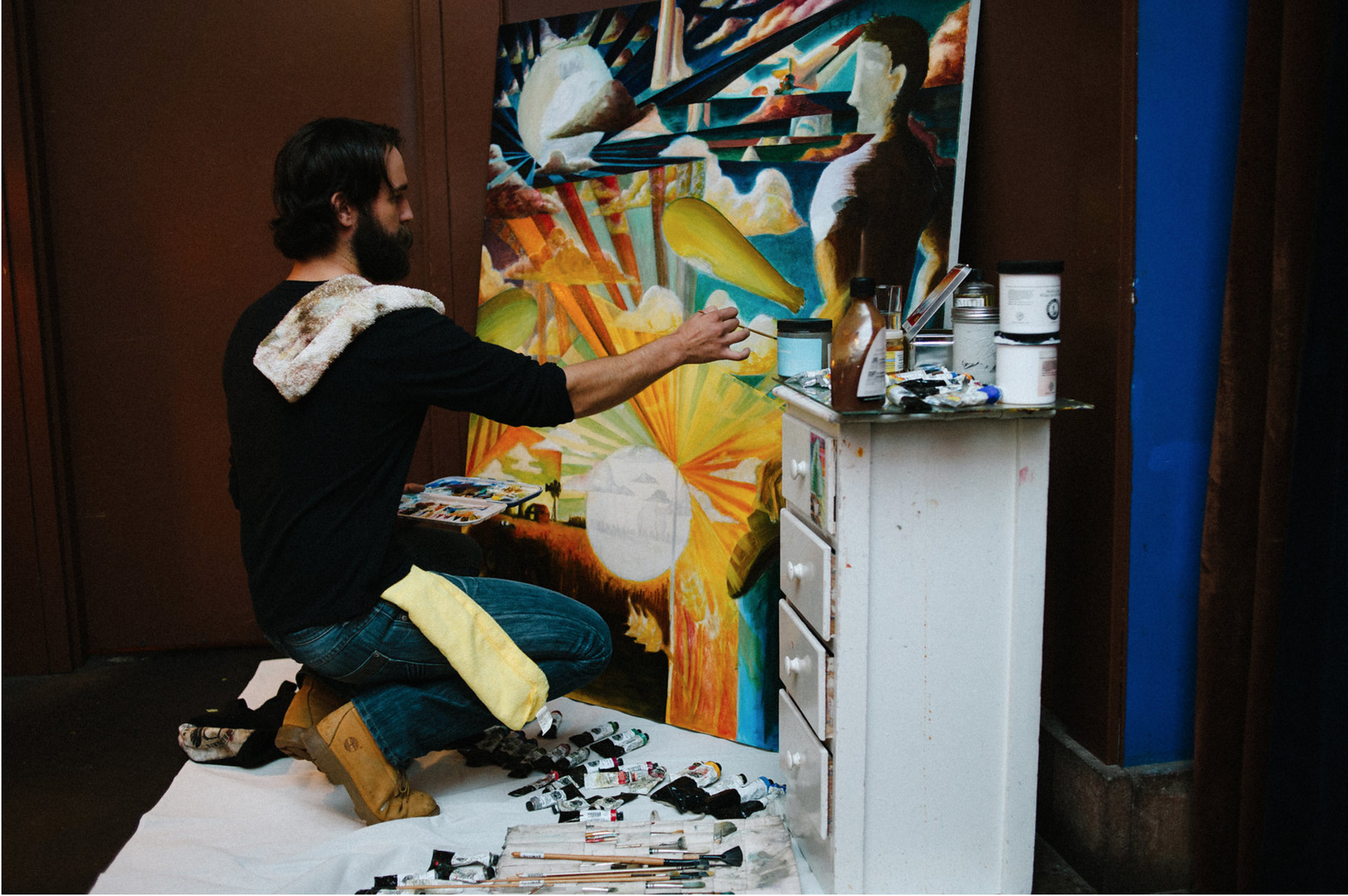 Live painting by Jake Grahn