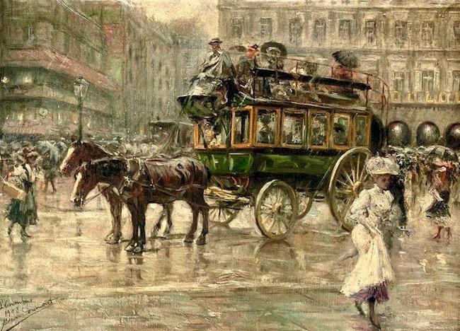 Eugenio_Alvarez_Dumont_(1864-1927)_L'Omnibus---_a_busy_town_square__Paris_(35_x_50_cm)_16_734.jpg