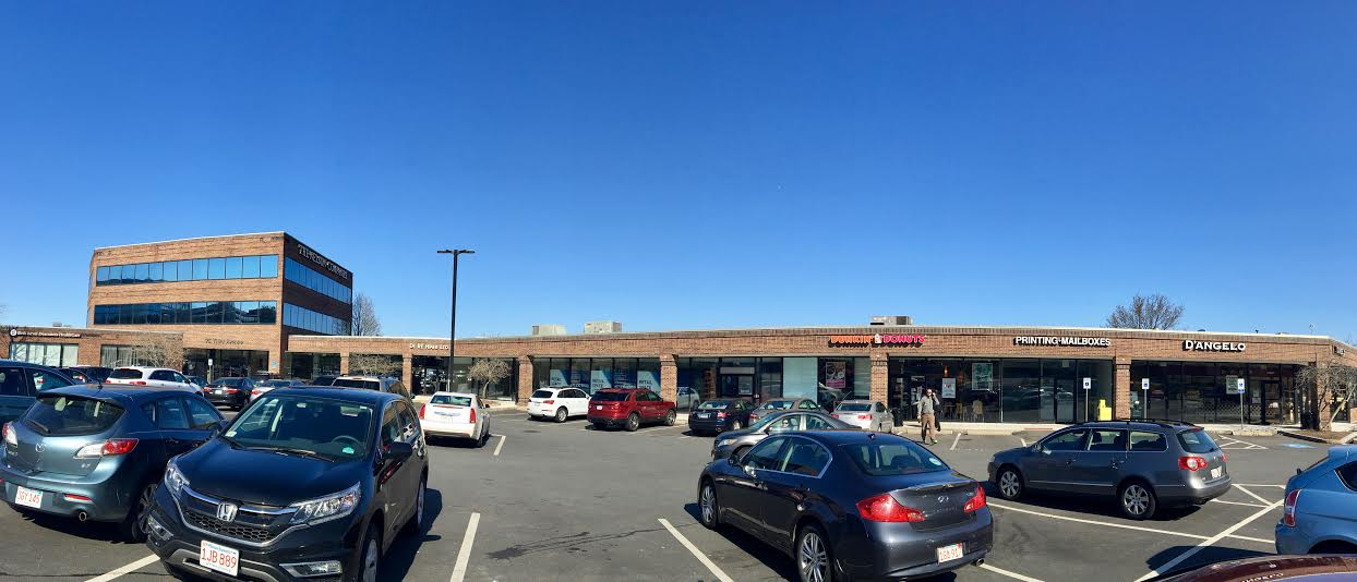 Panoramic view of front of building