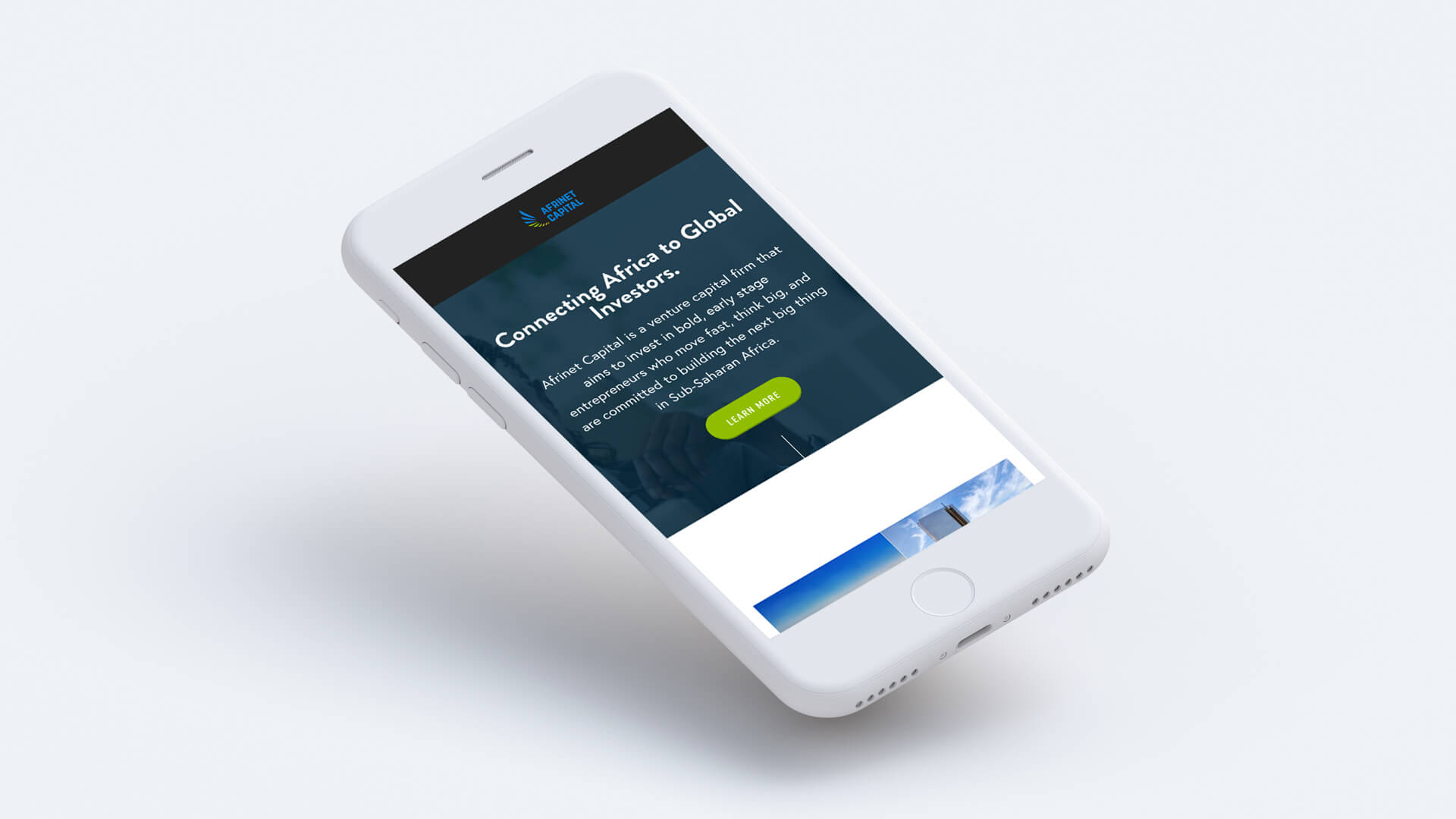 Modus Design Lab Case Study (work) –.Afrinet Capital desktop and iPhone mockup (2).
