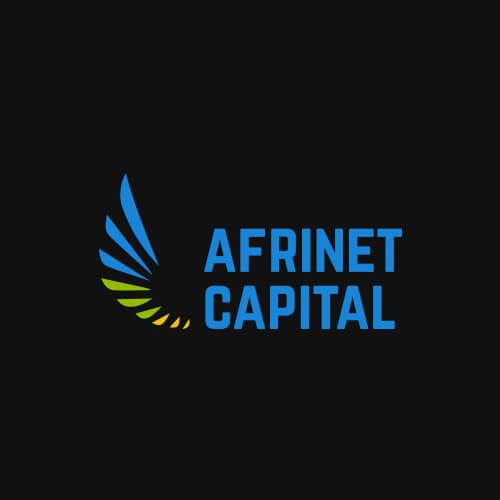 Modus Design Lab Case Study (work) –.Afrinet Capital full logo, black background.