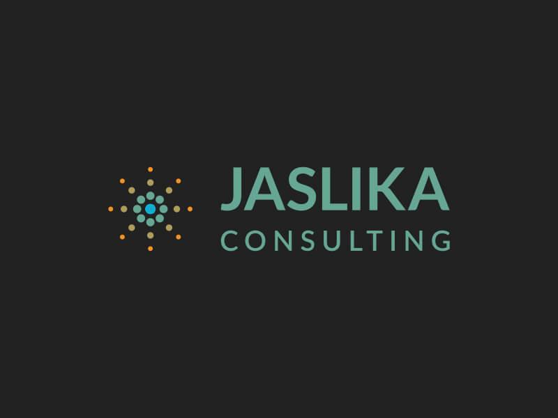 Modus Design Lab Case Study (work) – Jaslika Consulting full logo, colour,vertical.