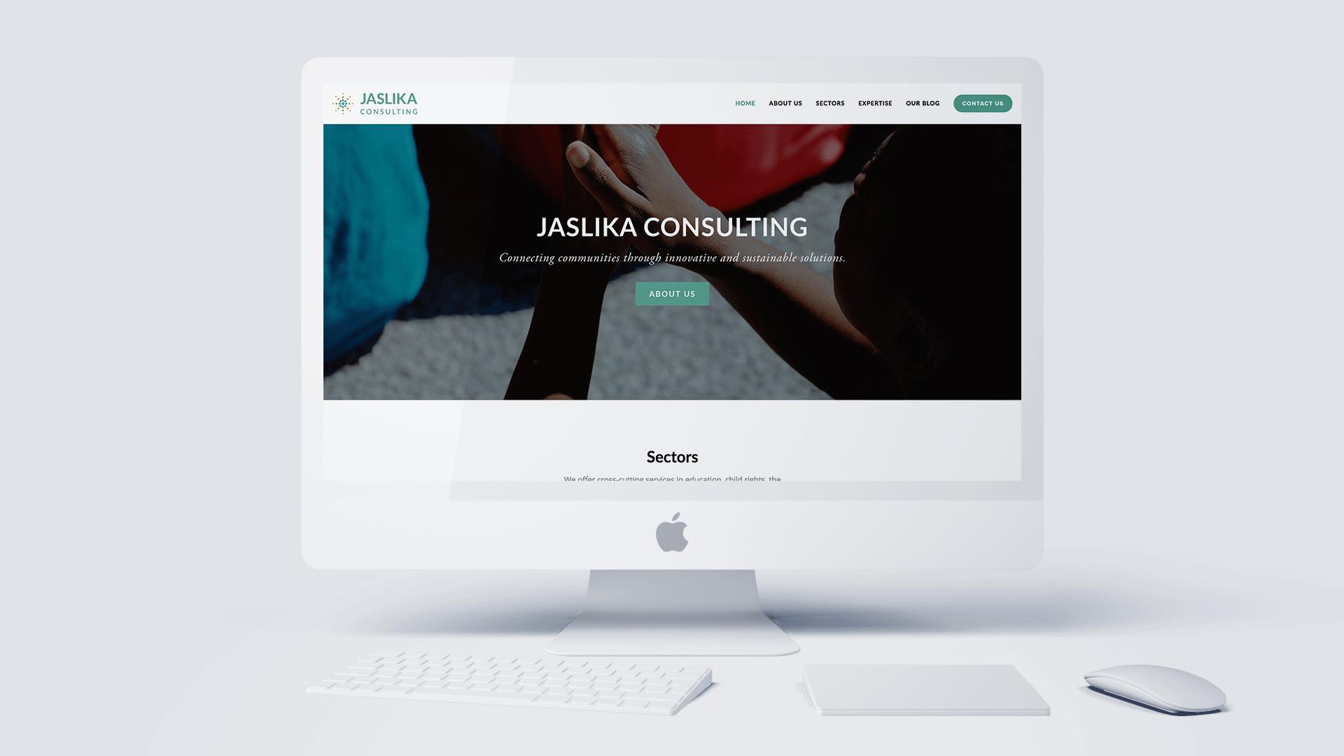 Modus Design Lab Case Study (work) –.Jaslika Consulting desktop mockup.