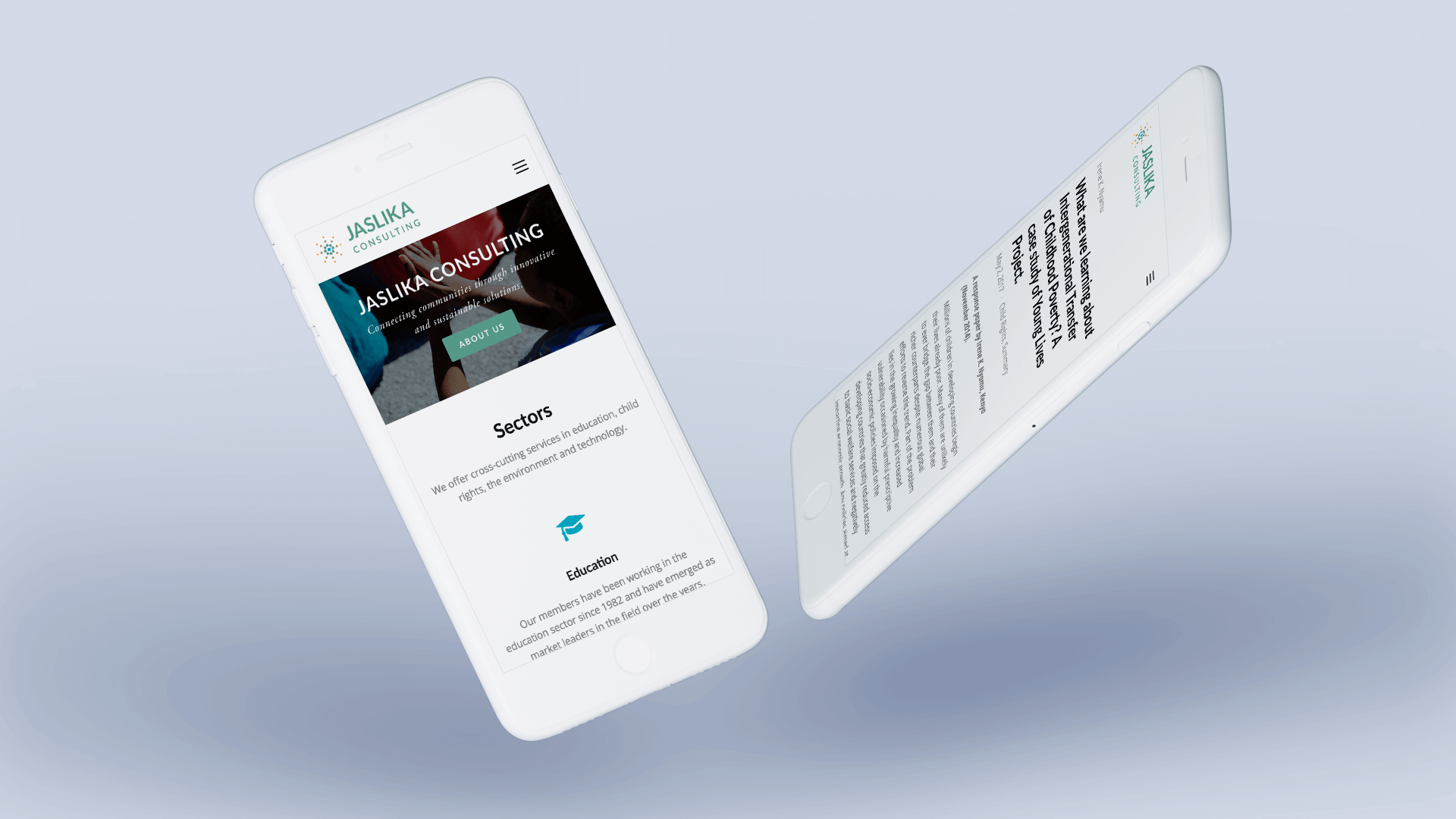 Modus Design Lab Case Study (work) –.Jaslika Consulting iphone mockup.