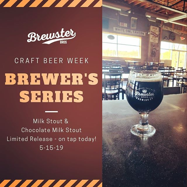 #brewersseries #craftbeerweek2019 #milkstout #chocolatemilkstout #wicraftbeer #drinklocal #chippewafalls #humpdayisagooddayforabeer