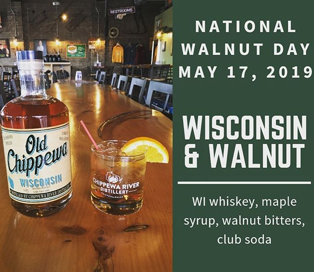 #nationalwalnutday #wisconsinandwalnut #wicraftspirits #craftwhiskey #drinklocal #chippewafalls
