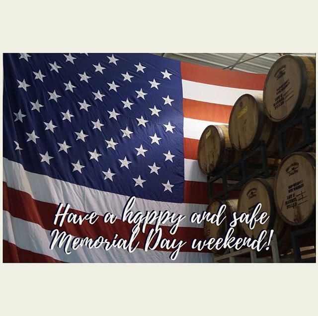 Memorial weekend hours: Sat & Sun - noon to midnight, Memorial Day - noon to 7 pm. #safetravels #memorialdayweekend #drinklocal #chippewafalls #wicraftspirits #wicraftbeer