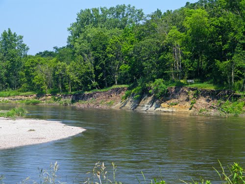 The Cottonwood River runs through the diverse landscape of Flandrau State Park.