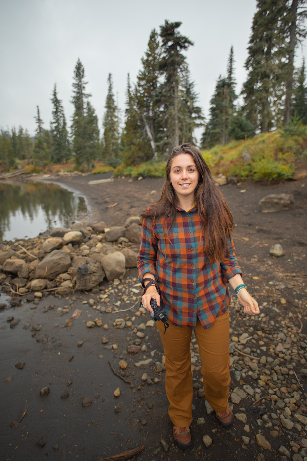 Women's Free Swinging Flannel in Cider Buff Check, Women's DuluthFlex Fire Hose Boot Cut Work Pants in Bourbon Brown