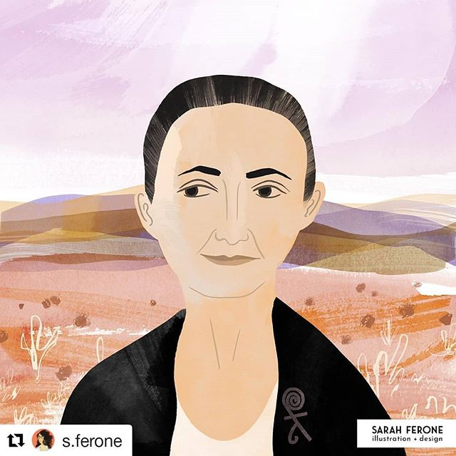 @s.ferone  is participating in the #portraitchallenge_2019 from @ohn_mar_win and @augustwren ! Join and/or follow along at the hashtag. 🖌️ • • • #Repost @s.ferone (@get_repost) ・・・ I'm participating in the #portraitchallenge2019 this month from  @ohn_mar_win and @augustwren. First up is artist Georgia O'Keefe. I was lucky to see many of her paintings when I was in Santa Fe several years ago, plus being surrounded by the gorgeous landscape she loved to paint.⁣ • • •⁣ #illustration #illustrationage #georgiaokeefe #illustratedportrait #illustratedladies #womenshistorymonth #womenwhodraw #sarahferone #twitter #portraitchallenge_2019
