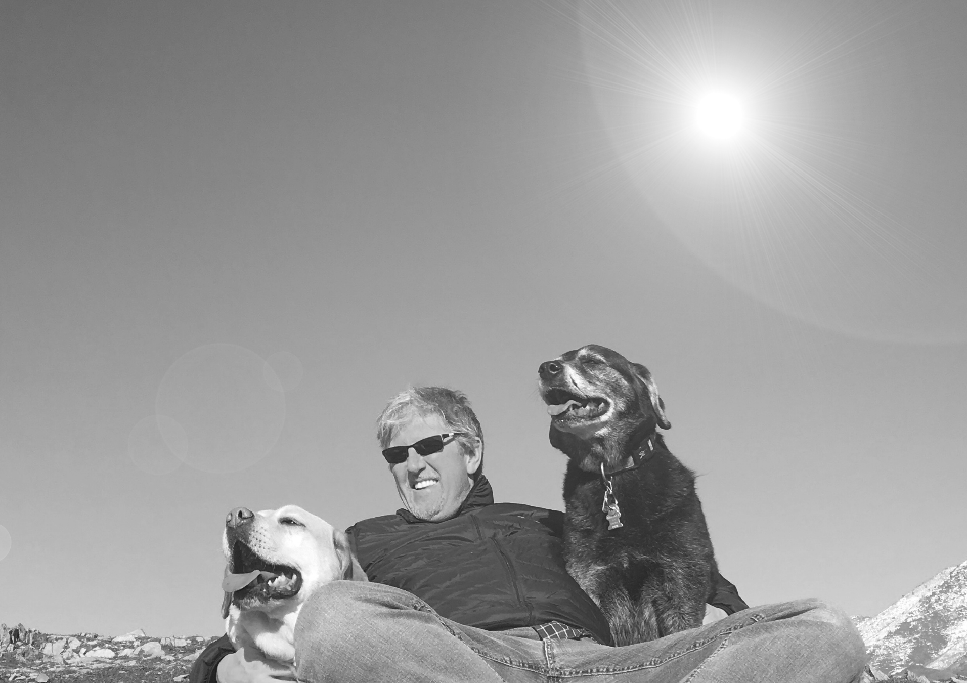 B&W John And Dogs.png
