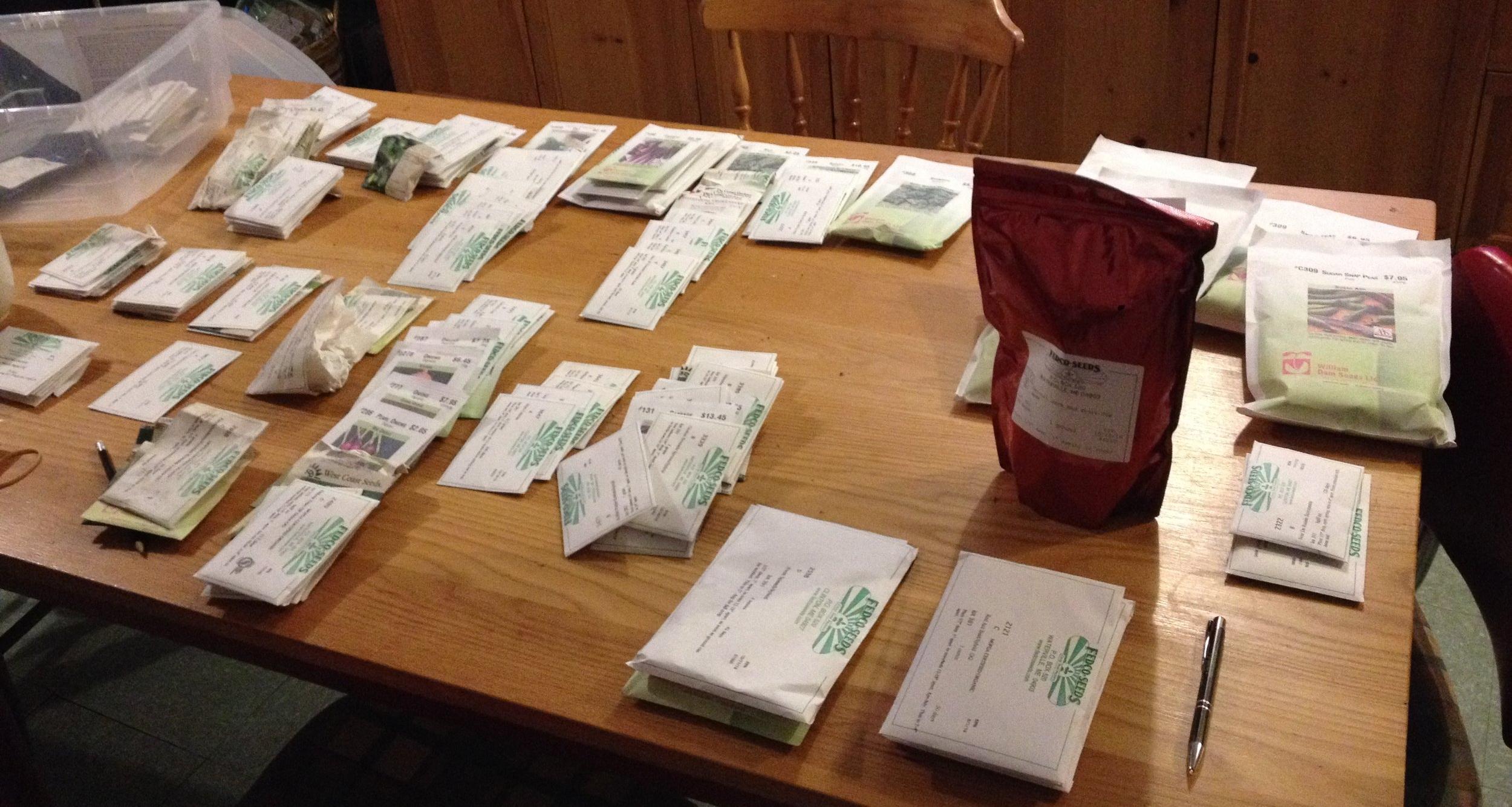 Organizing 2017 seed order
