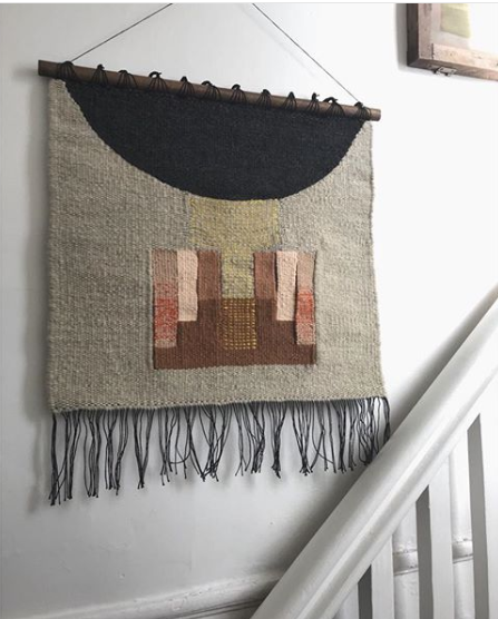 - My works, and works-in-progress, can currently be seen on my instagram.Most are available for purchase; please inquire.Stay tuned for pop-up and market announcements in 2018.My pieces take 20-50 hours to complete, from warping to finishing, and are woven primarily with 100% wool, on a Mirrix tapestry loom.
