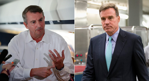 2014 Senate Candidate: Ed Gillespie (Left), Mark Warner (Right)