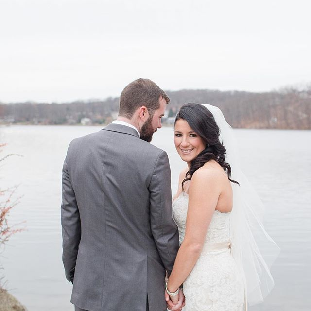 Catching a glimpse of those first few moments between dana + matt were amazing! Seeing those smiles you would never guess just how cold we all were! 📷: @tinaelizabethphotography | planning & styling: @ameliaandmaeevents . . . #ameliaandmaeevents #eventplanner #njeventplanner  #njbride #njwedding #whilshiregrand