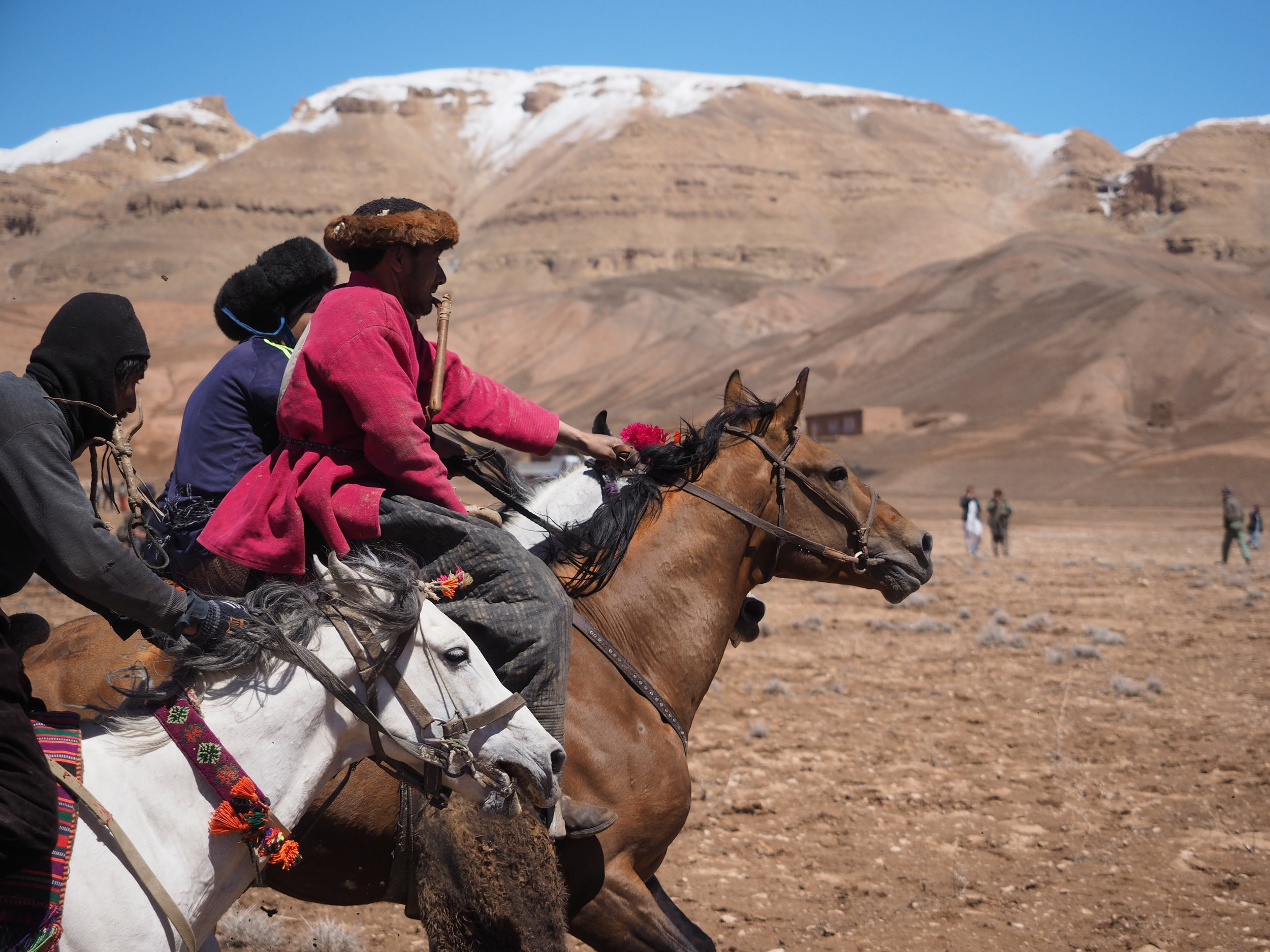 Buzkashi. Words can't describe how mental this was. I managed to get this shot by standing my ground.