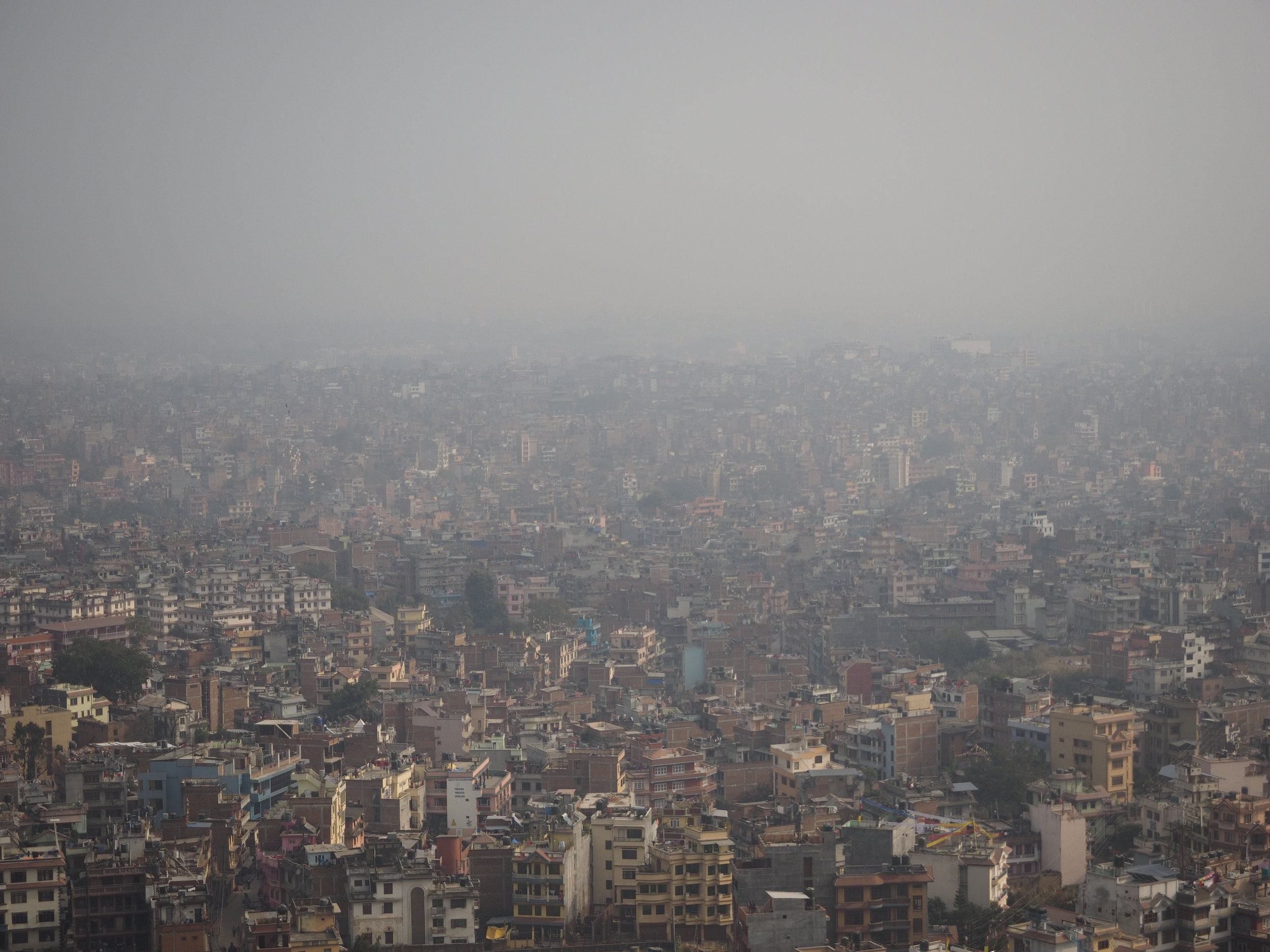 The view of Kathmandu from the Monkey Temple.