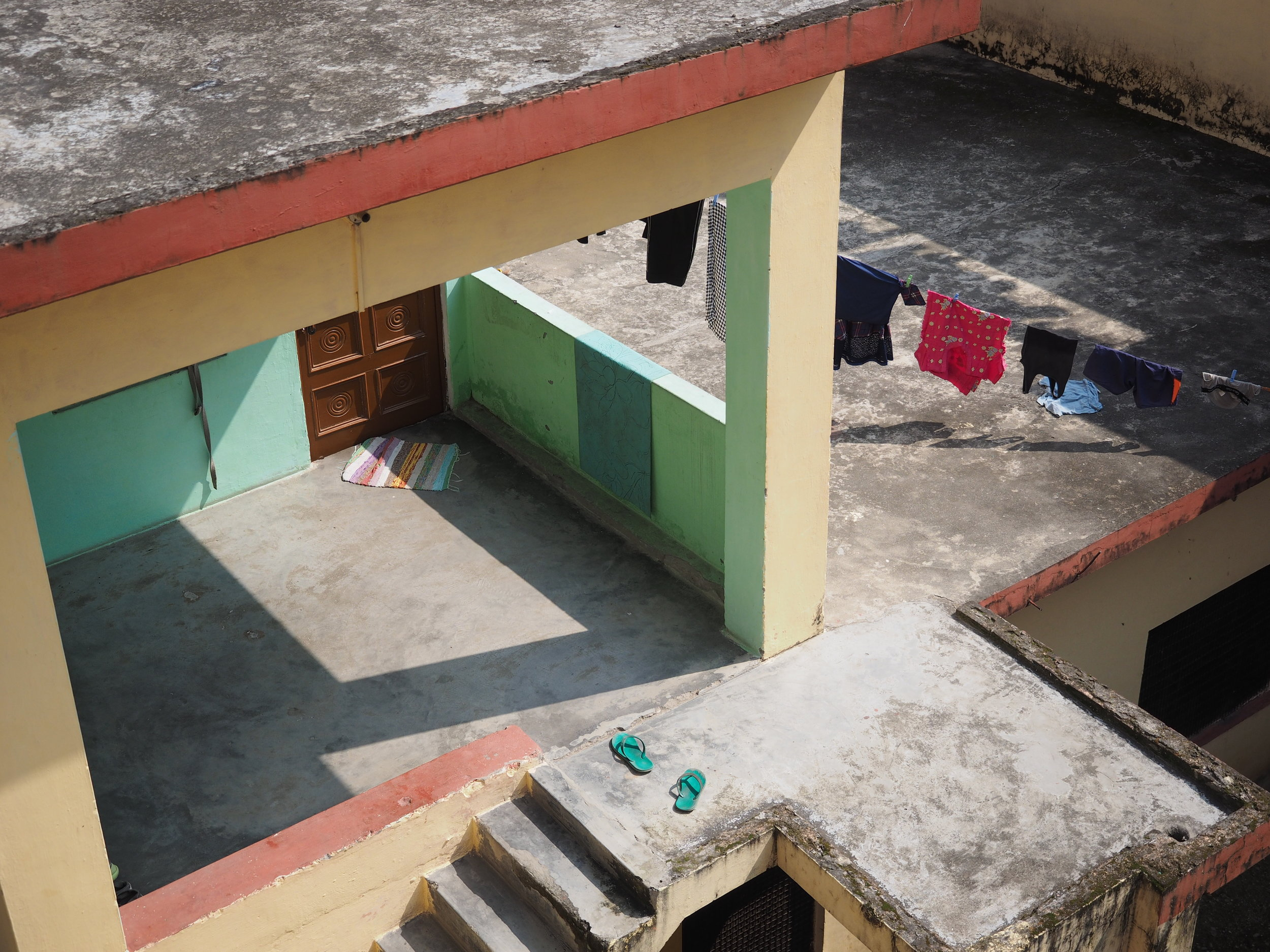 This was the view from my balcony and the home of one of my teachers. Looks a bit M.C. Escher to me.