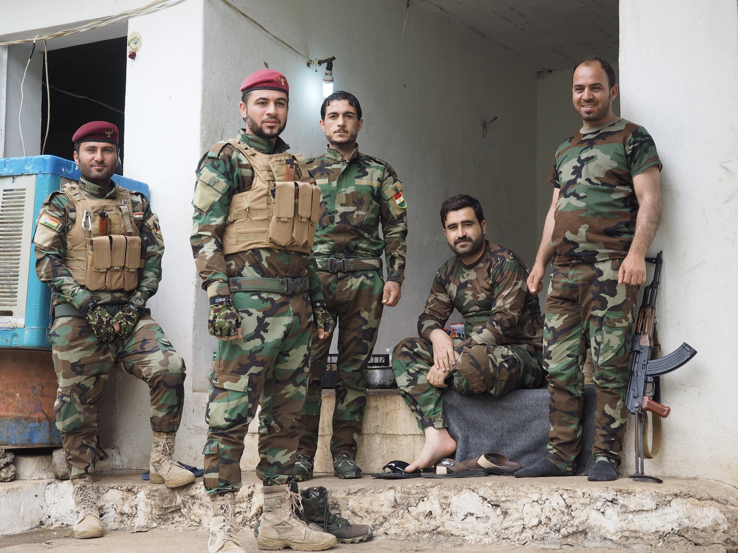 A group of Peshmerga soldiers guard the Yazidi village of Lalish. This was basically my birthday party, just without a cake.