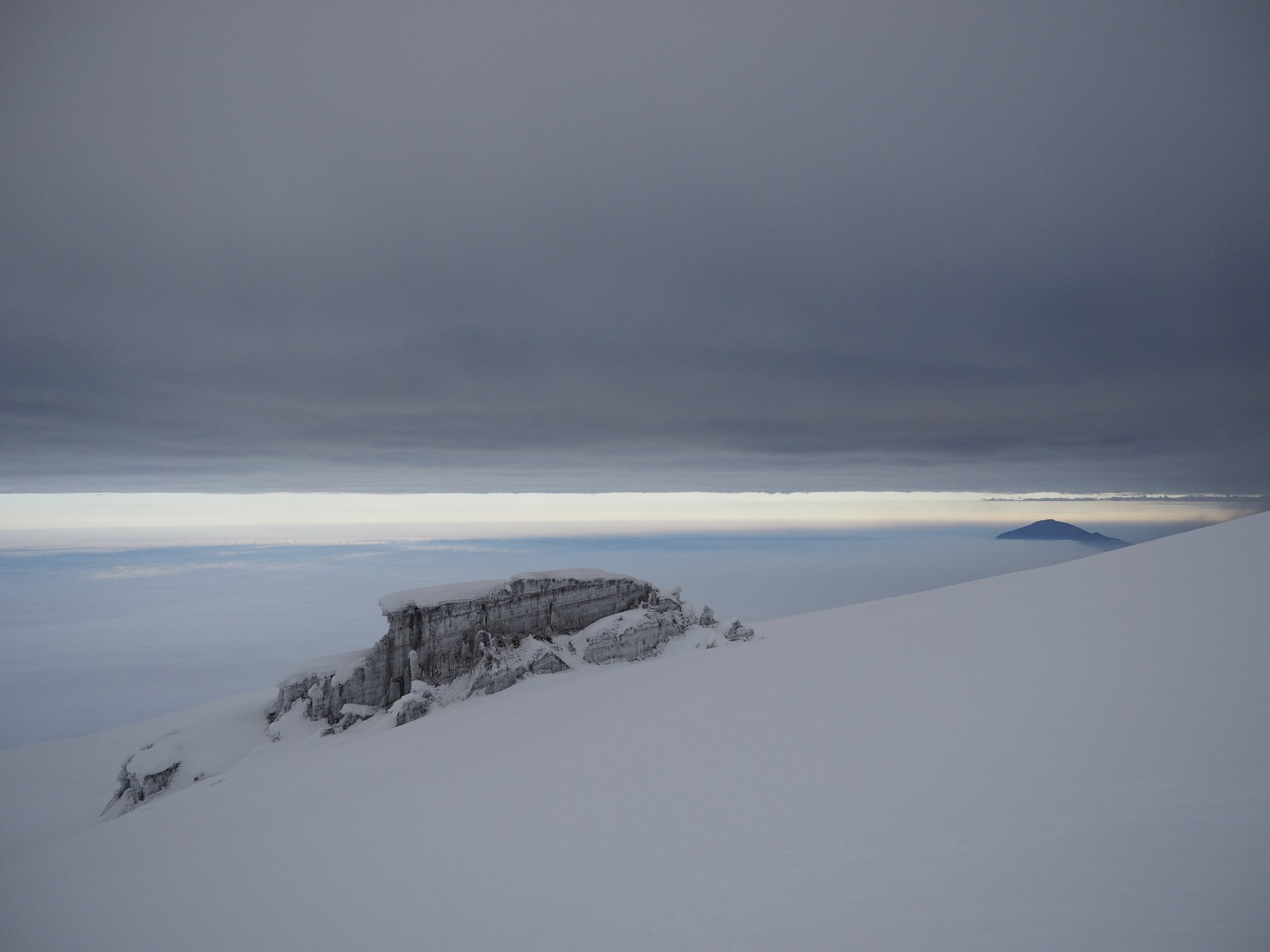 The other side of the summit was more dramatic.