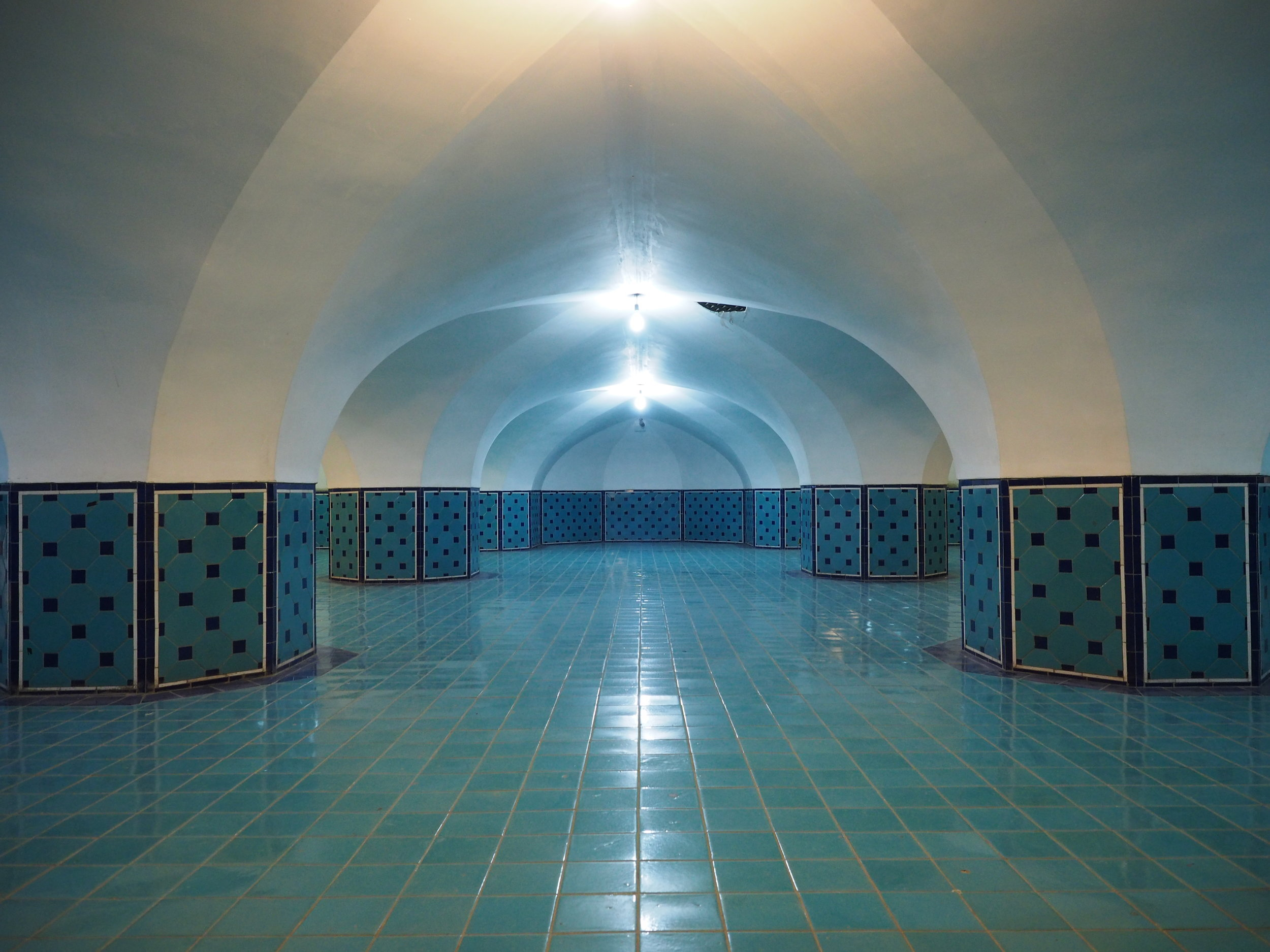 Is it a mosque or a swimming pool? Nobody knows. Well, it's a mosque actually.