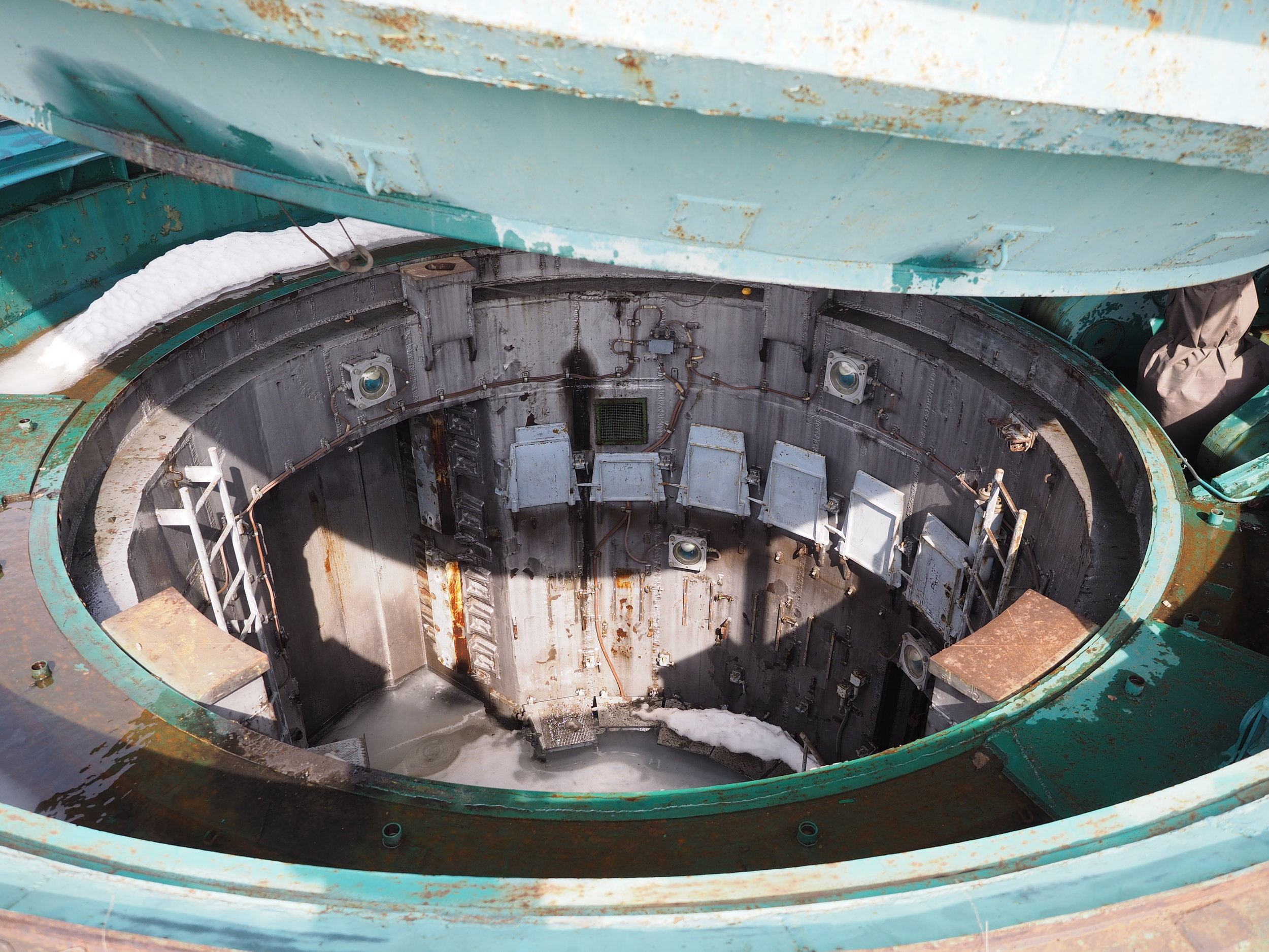 The silo has been filled with concrete to stop them sneaking a missile back in.