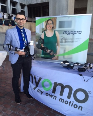 Myomo's Pascal Gangi demonstrates a MyoPro 2.