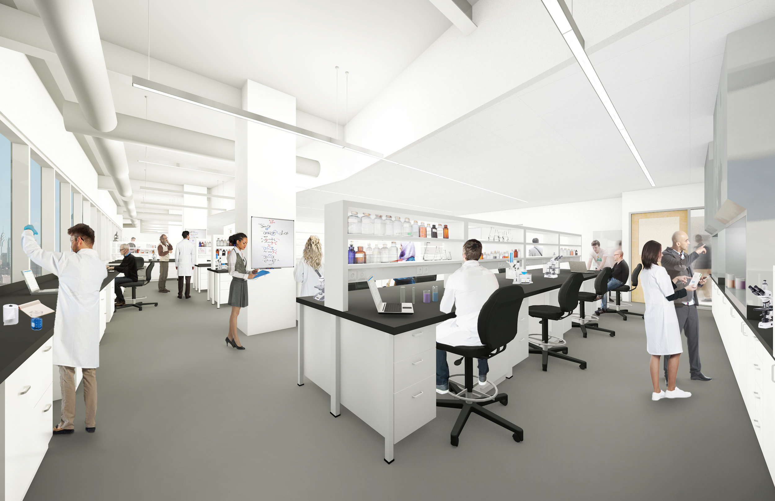 A rendering of our upcoming lab space.