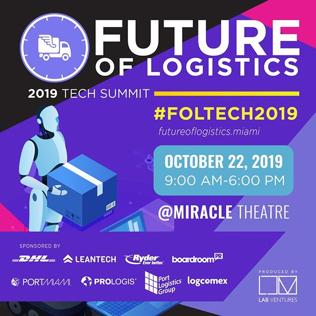 "Curious about how tech is transforming the business of transportation? Want to mingle with top executives in the logistics and supply chain industry including DHL, Ryder, CMA CGM, FedEx, Ford, and more? Register for @foltech2019! (And use our code ""CIC20"" to get 20% off.) . . . #FOLTECH2019 @LABMiamiVentures"