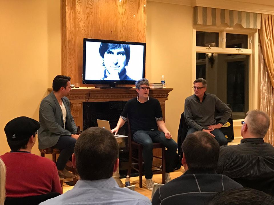Branding and marketing experts who work with fortune 100 clients teach a packed room at an Innovation Collective event.