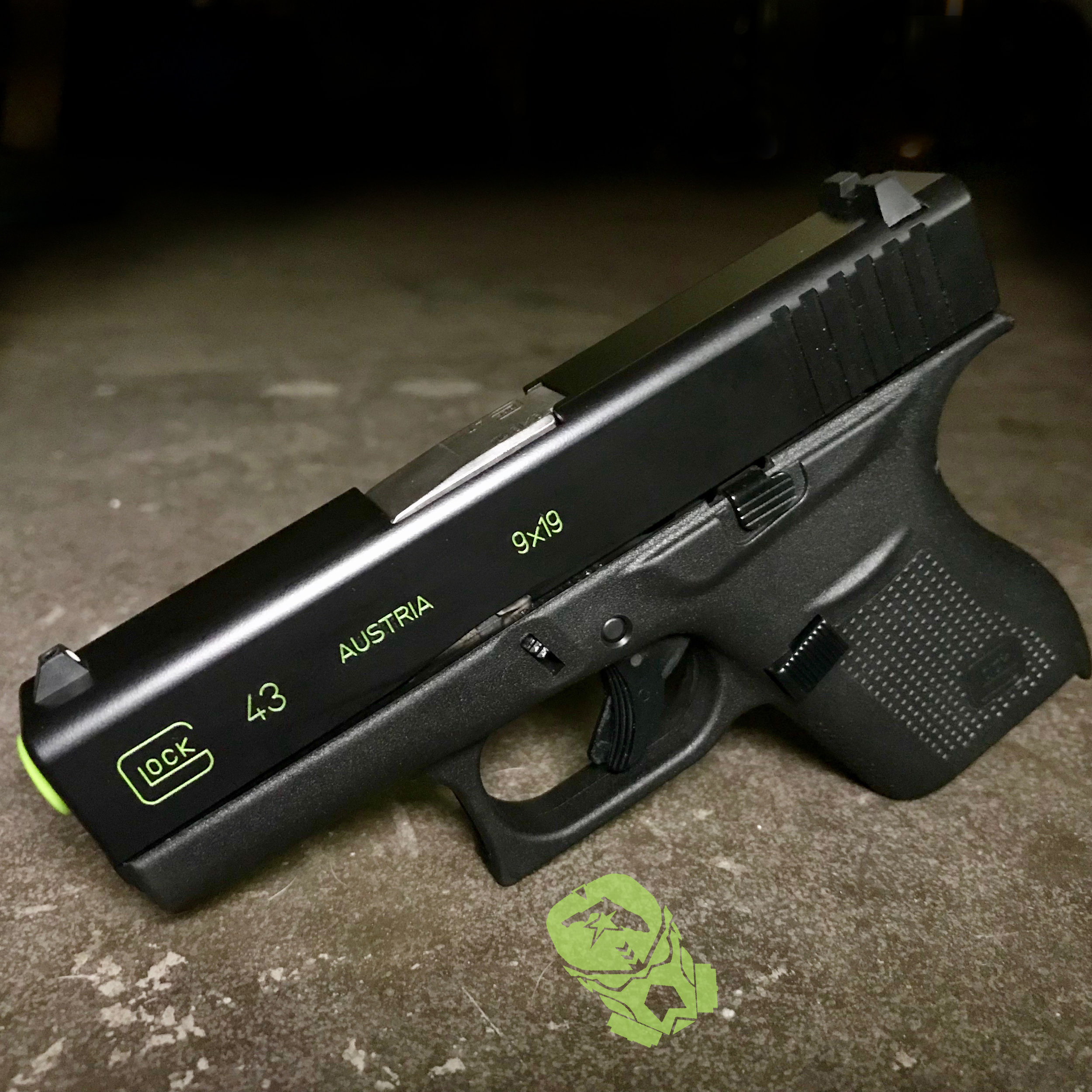Glock 43 with Green Color Fill