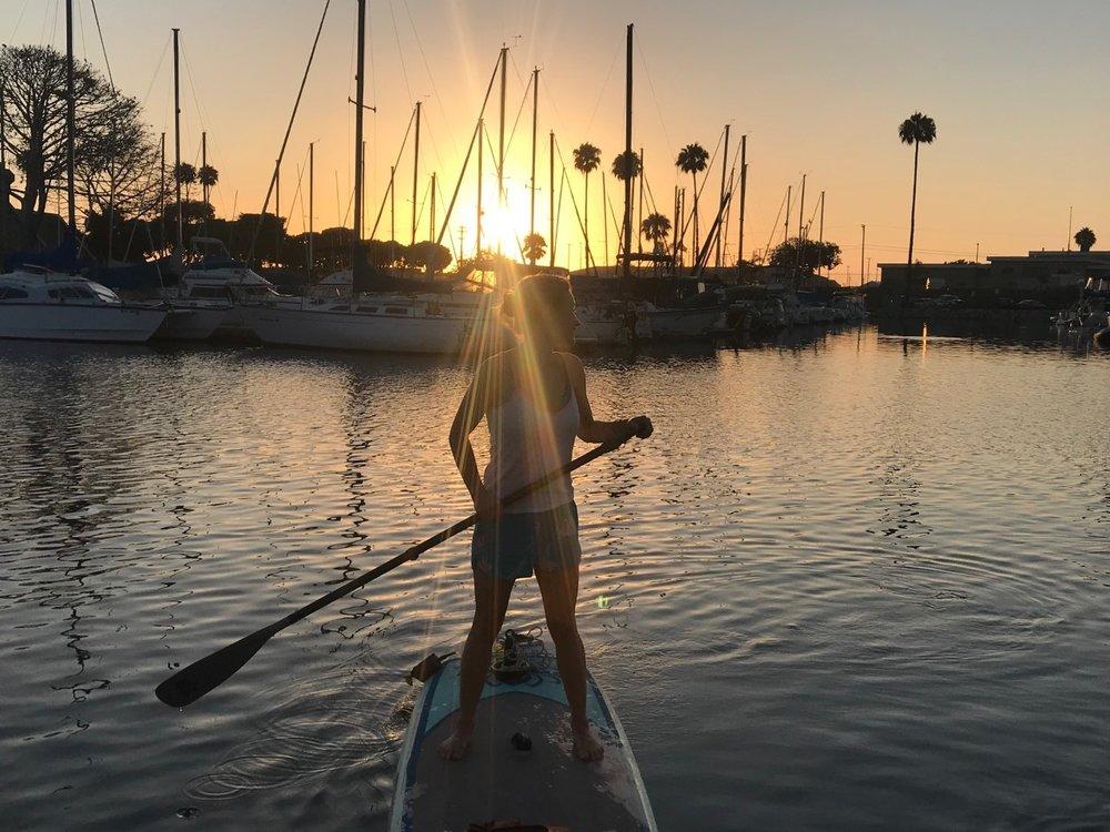 Paddleboarding in Oceanside, CA