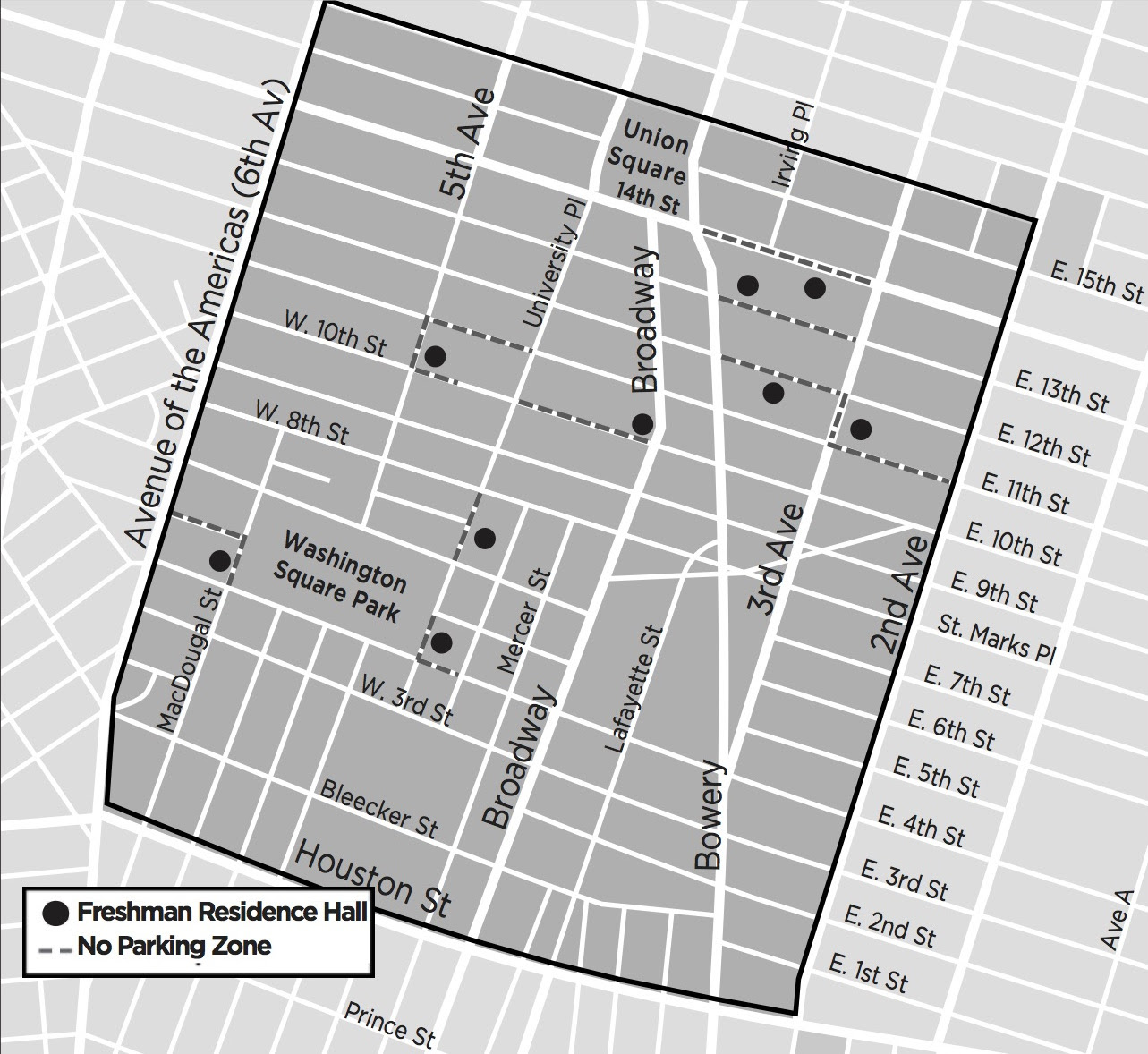 Residents within the shaded area may request reimbursement for cars stores in a garage on Saturday night or Sunday during the day,August 26-27 (up to 24-hours).