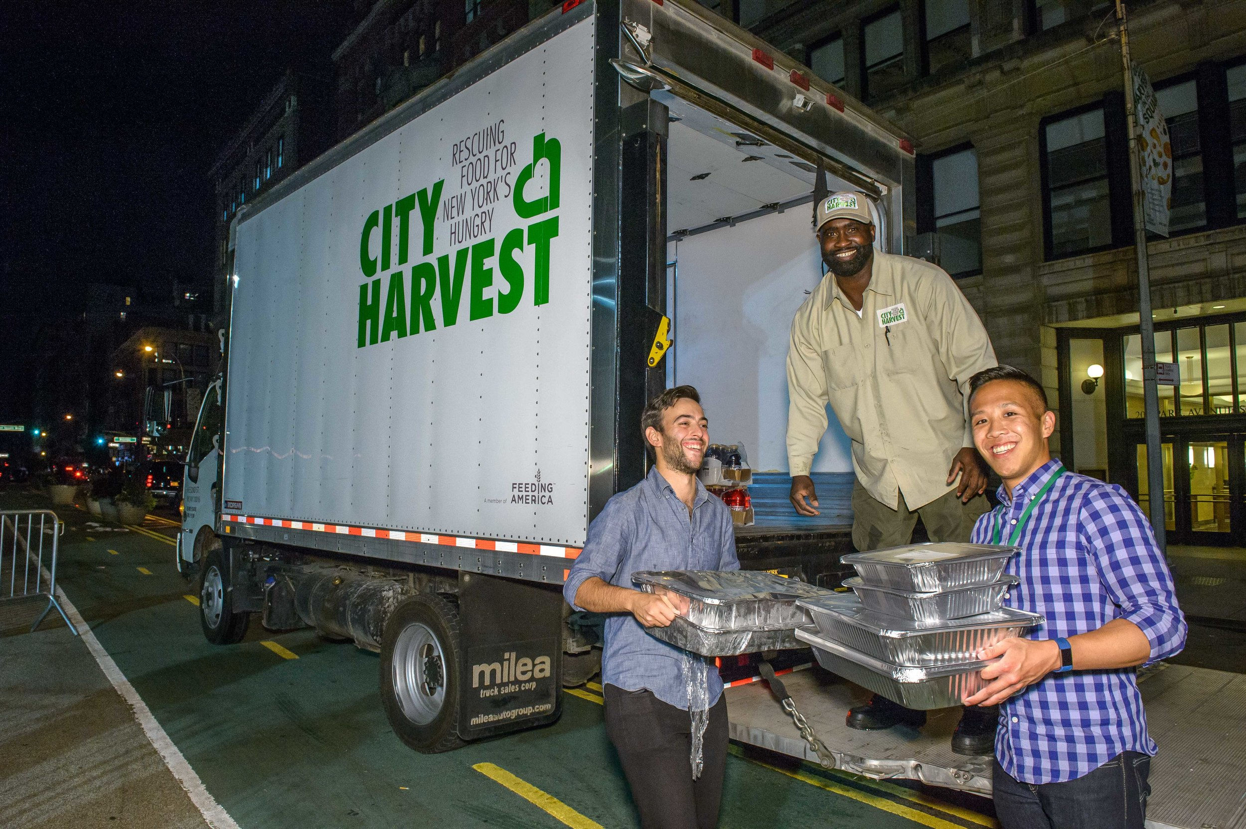 City Harvest rescued all event leftovers
