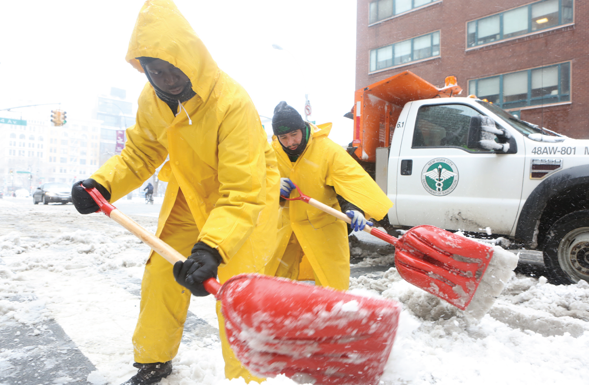 USP Clean Team and DSNY clear streets in Union Square