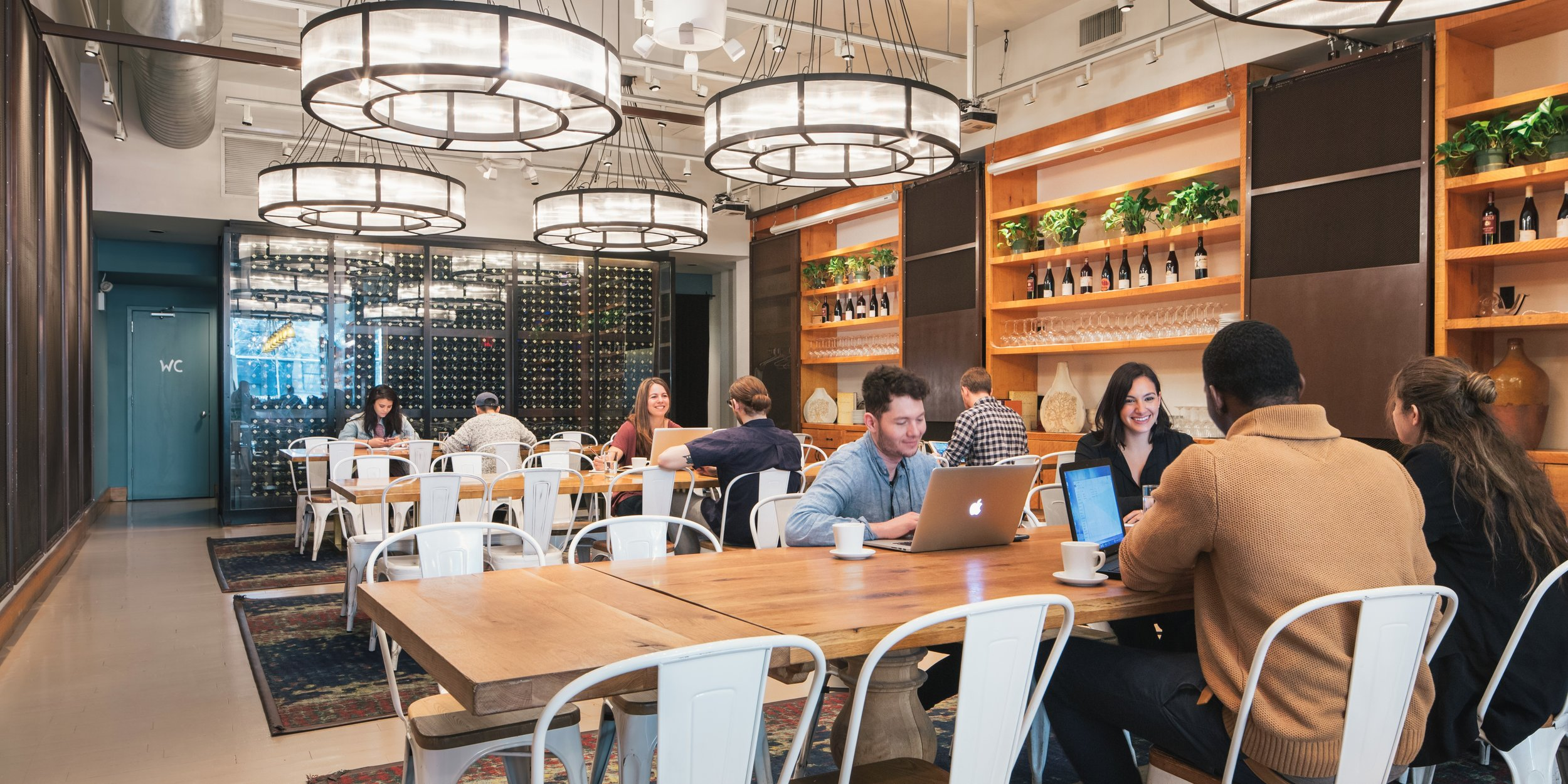 Corkbuzz as a Spacious coworking location during the day. Image Source: Spacious