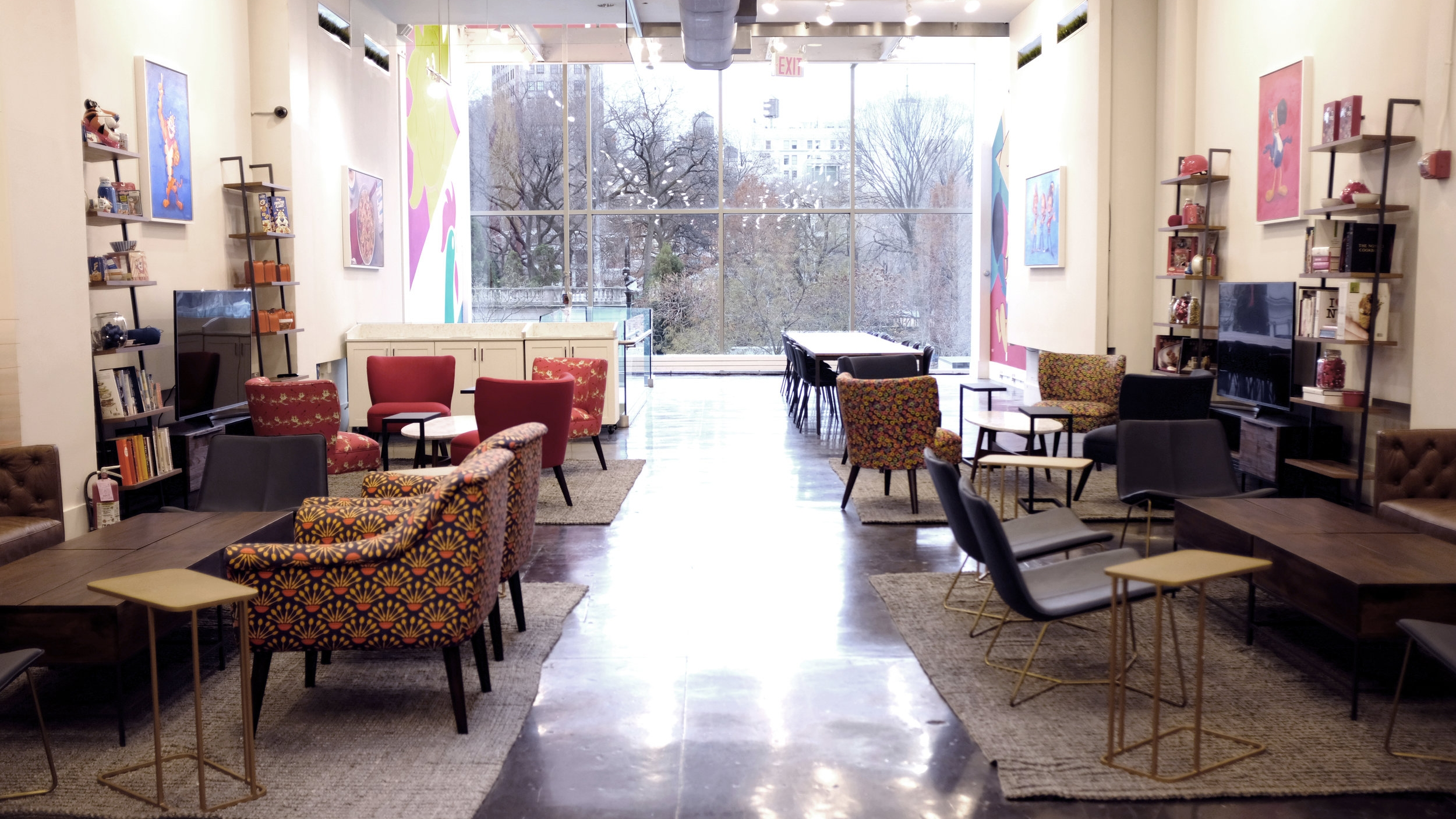 Kellogg's NYC has a 5,000-square foot loft overlooking Union Square Park available for breakfast meetings, birthdays, and cocktail parties. Image Source: Kellogg's NYC