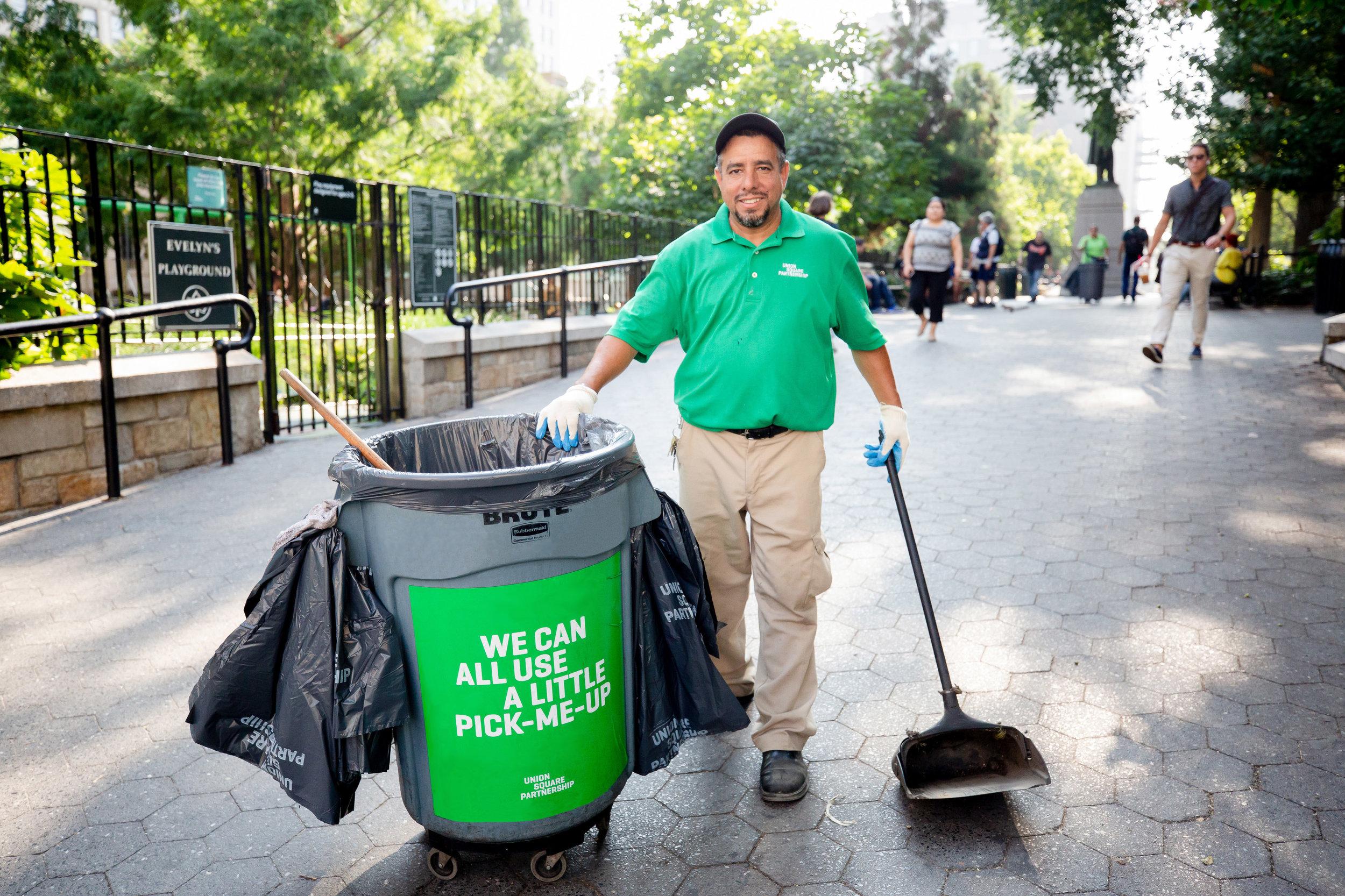 USP Clean Team. Photo by Liz Ligon