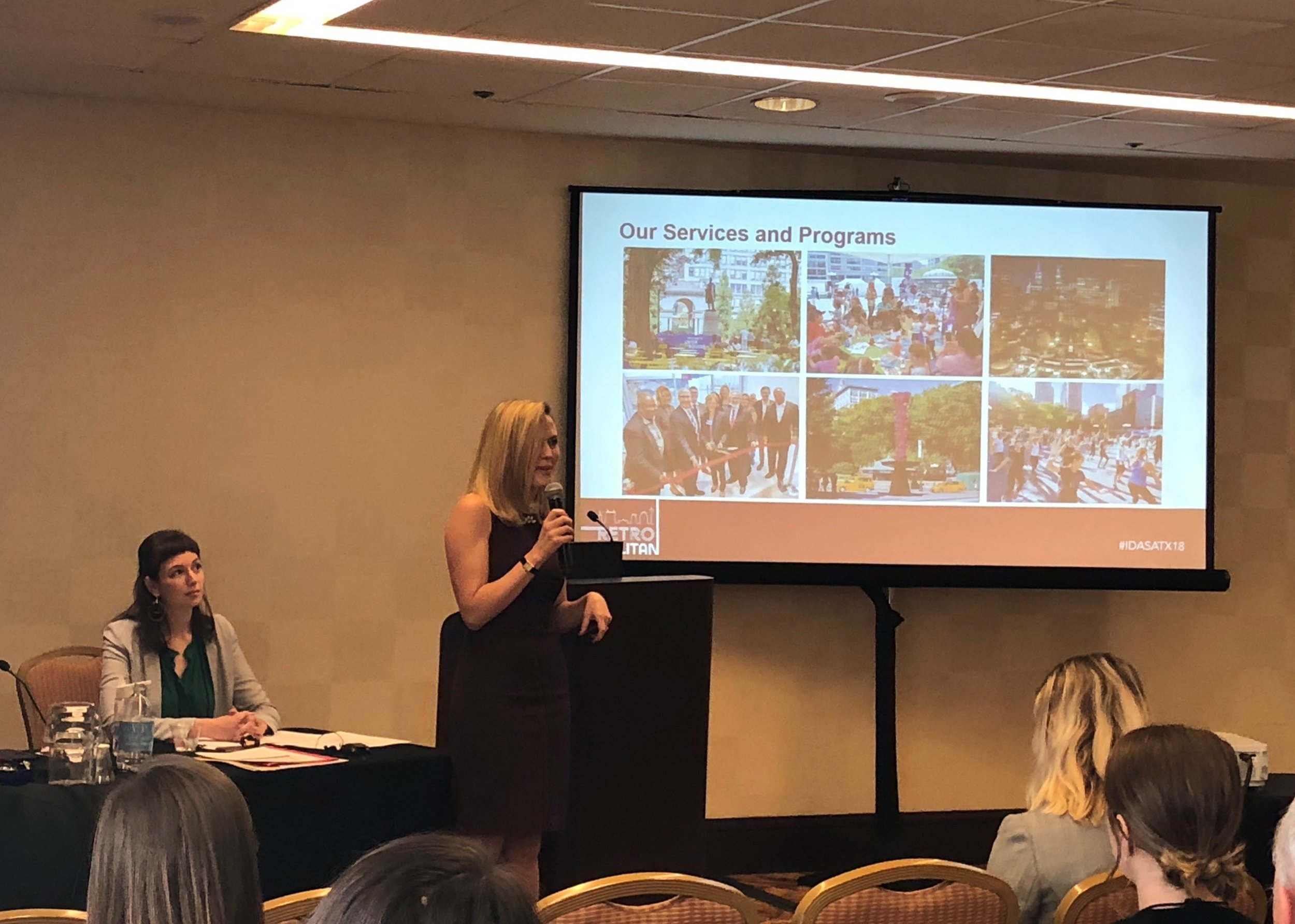 Director of Economic Development Monica Munn presents at IDA