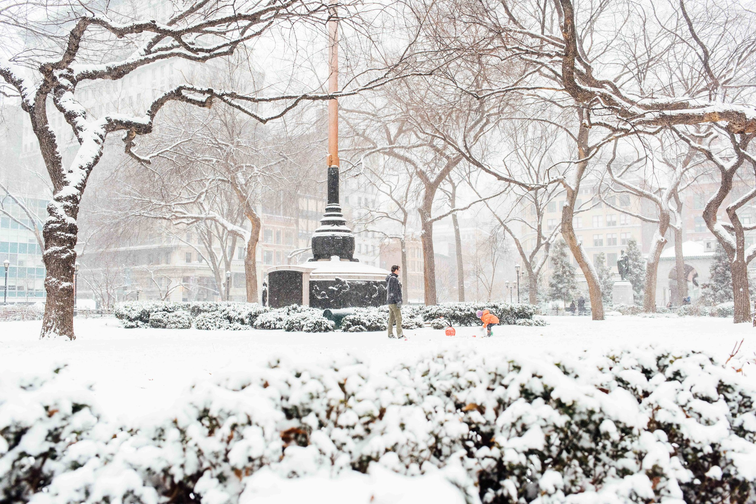 Union Square Park in the Snow Photo by Jack Cohen