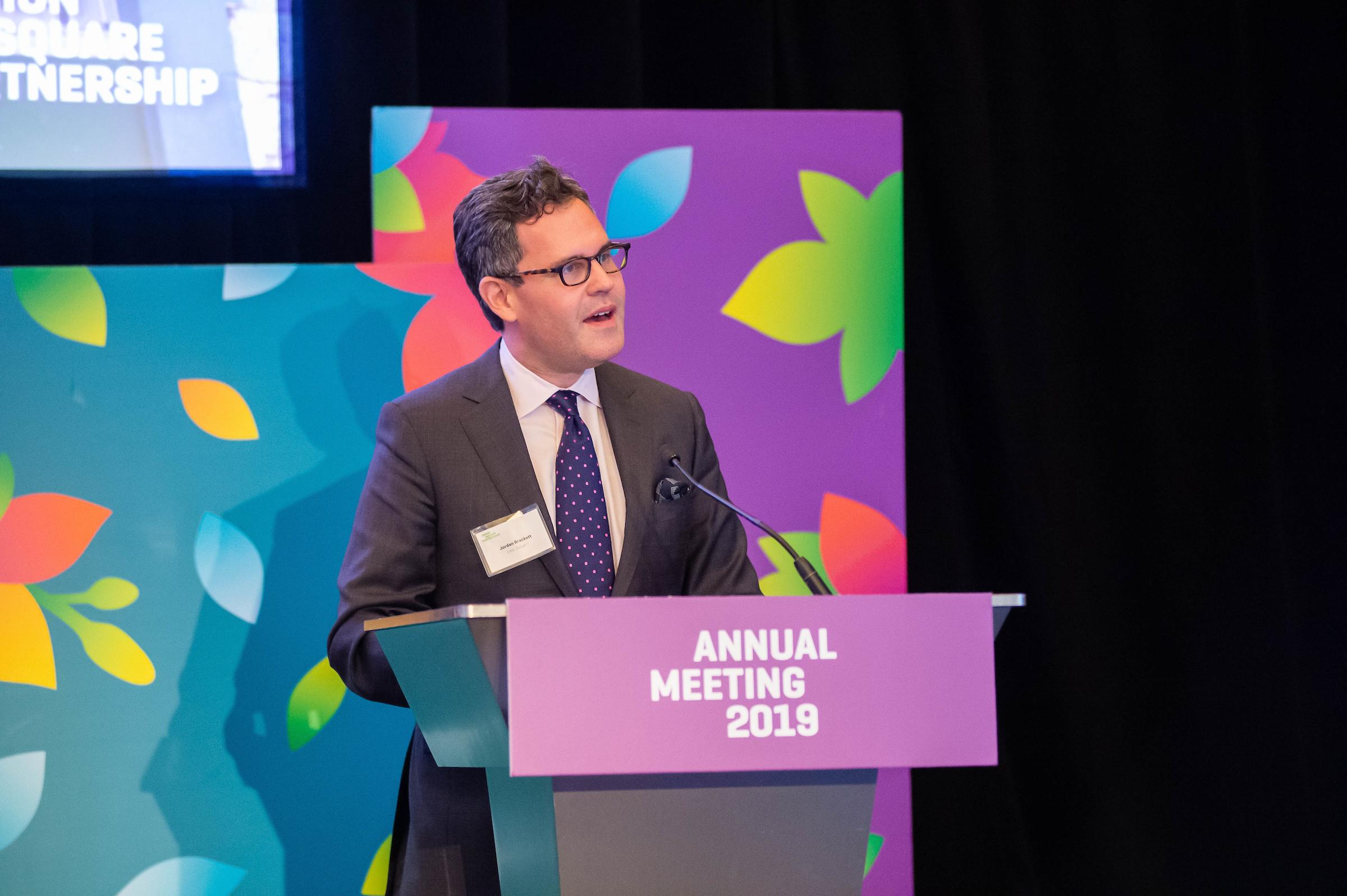 USP Secretary Jordan Brackett presents the 2019-2020 Slate of Directors