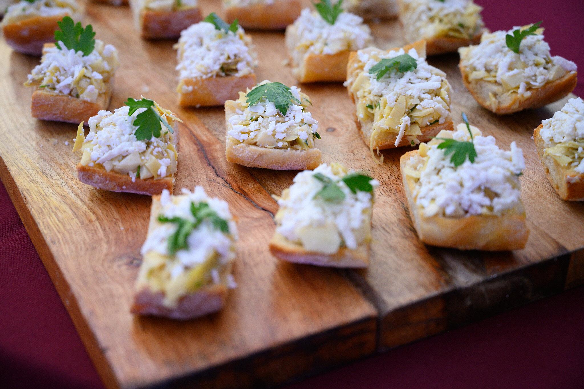 Artichoke Crostini from Tarallucci E Vino